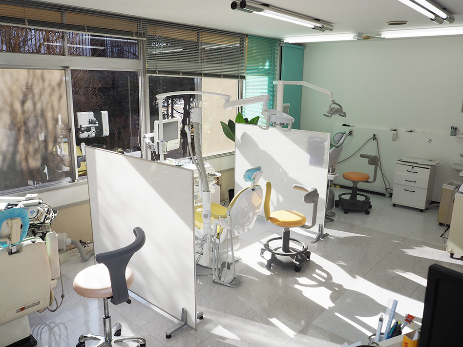 土浦市の歯医者、小杉歯科医院の診療室